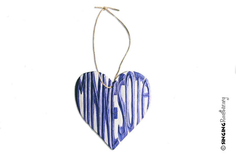 Singing Rooster - State Heart Ornaments - Ornament - Ethical Trading Company