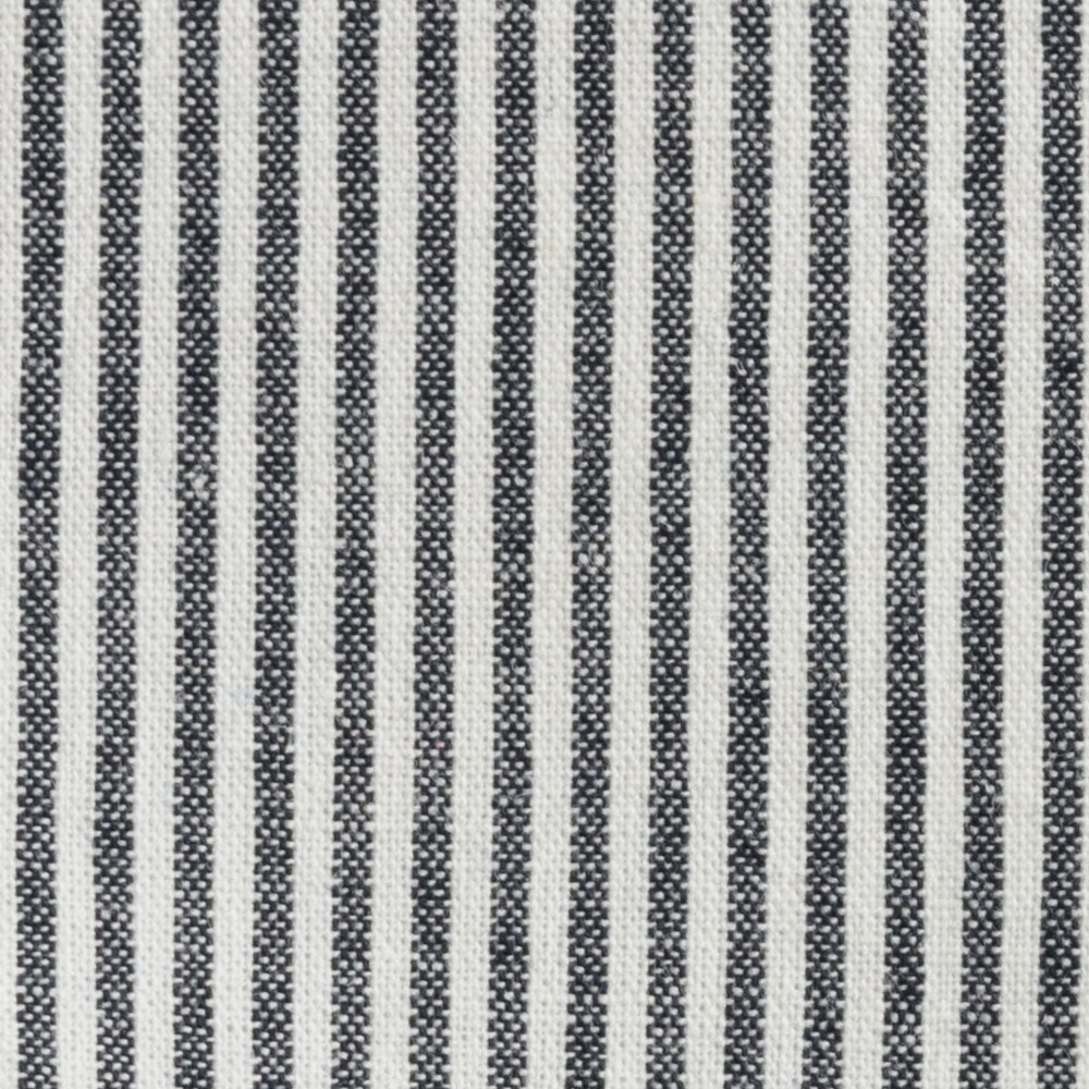 black and white stripe chambray Fabric Swatch