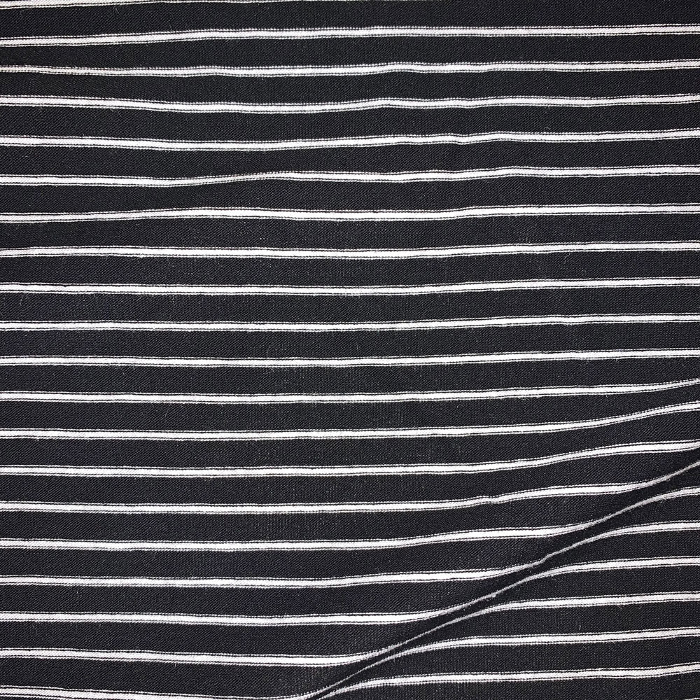 black and white stripe Fabric Swatch