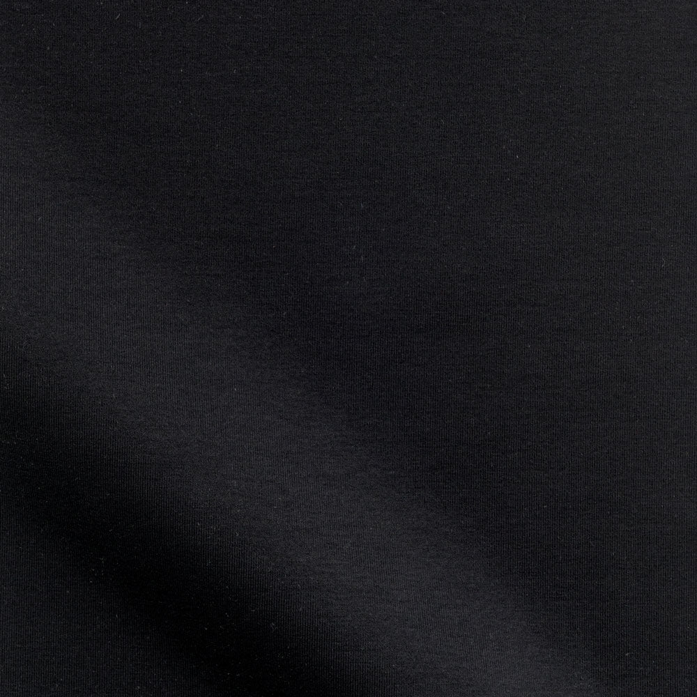 black cotton/lycra knit Fabric Swatch