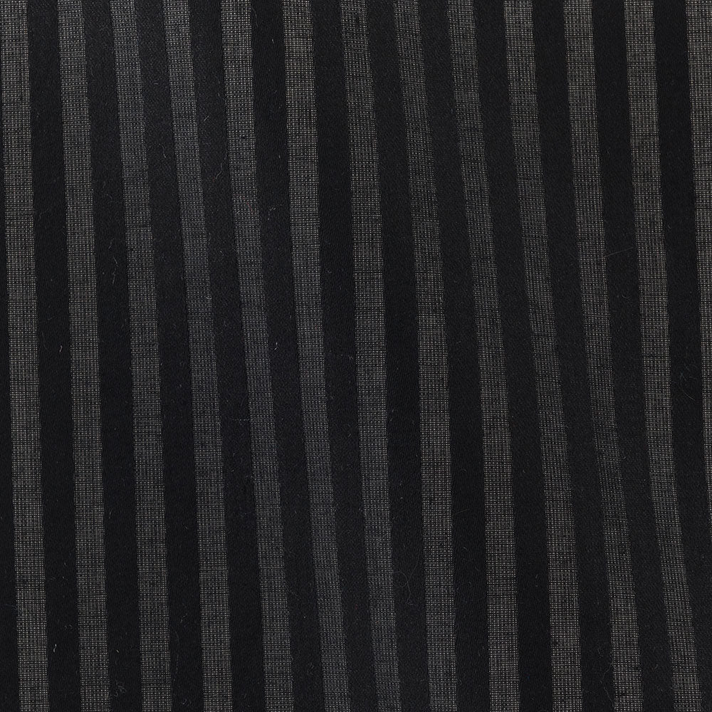 black cotton satin stripe Fabric Swatch