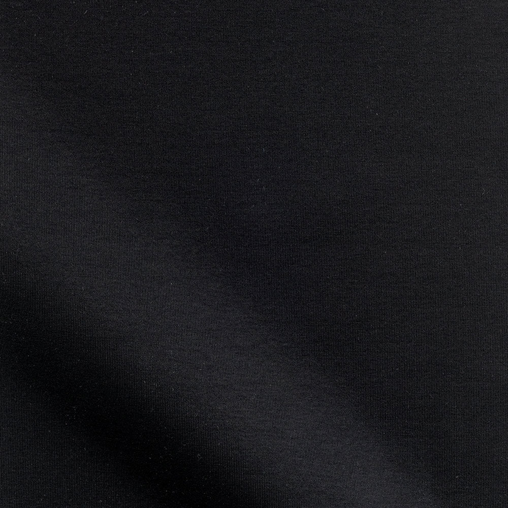 black rayon spandex ponte knit Fabric Swatch