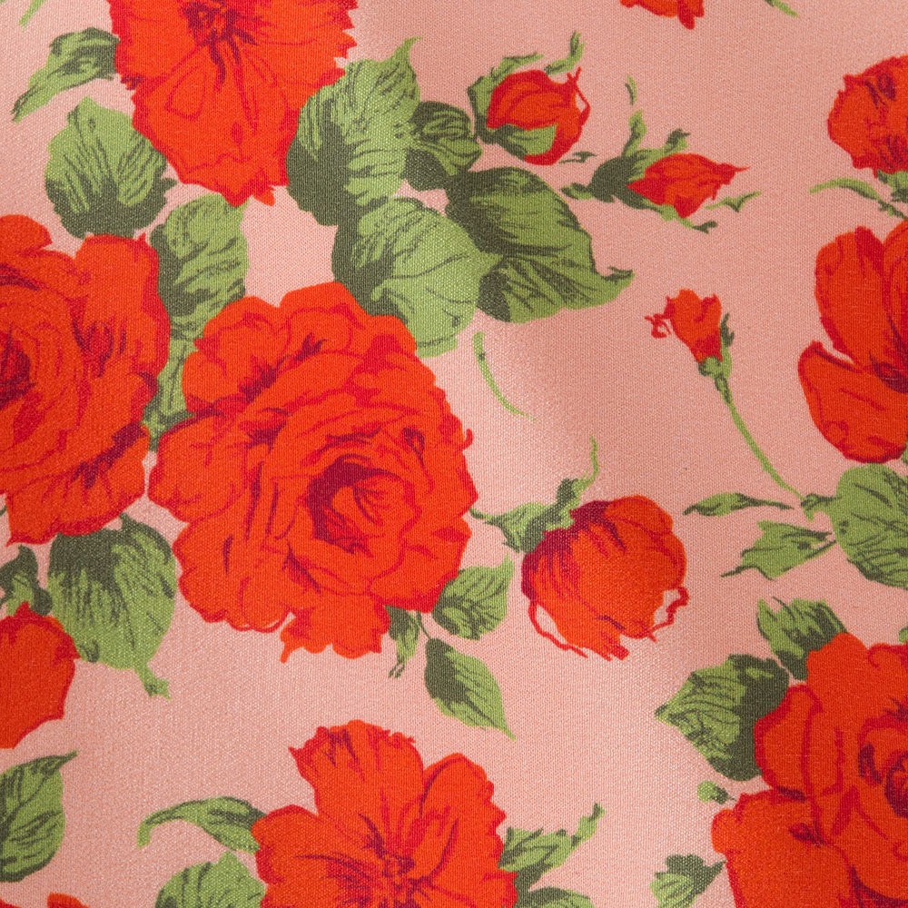 Liberty rose silk print Fabric Swatch