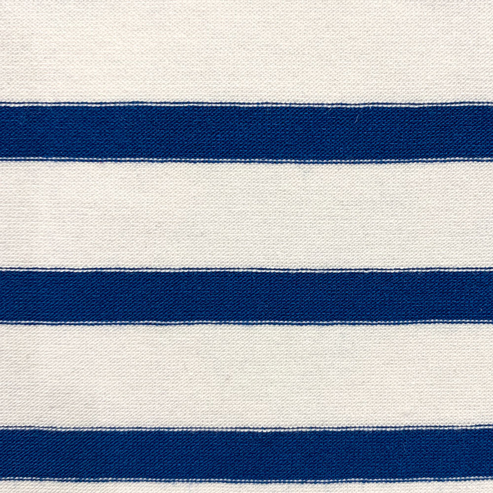 navy and white rayon stripe Fabric Swatch