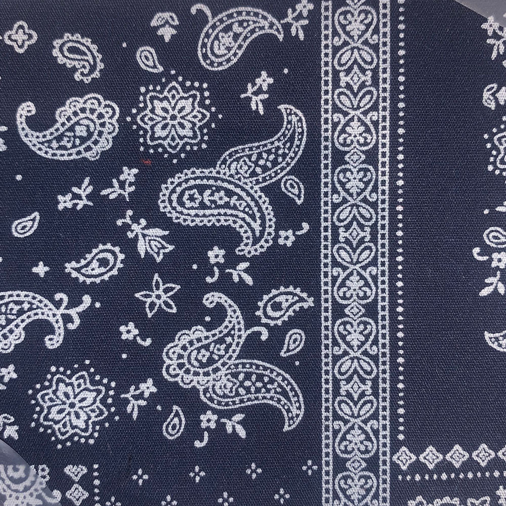 navy bandana Fabric Swatch