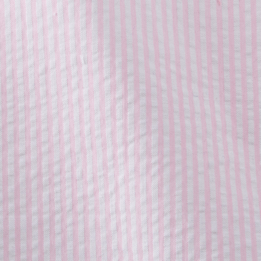 pink cotton seersucker Fabric Swatch