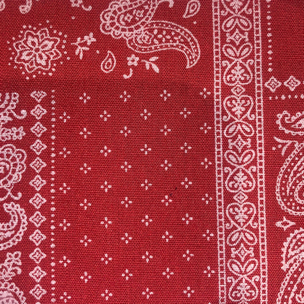 red bandana Fabric Swatch