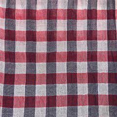 red check crinkle cotton Fabric Swatch