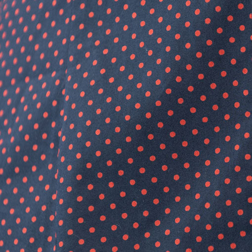 red dot on navy Fabric Swatch