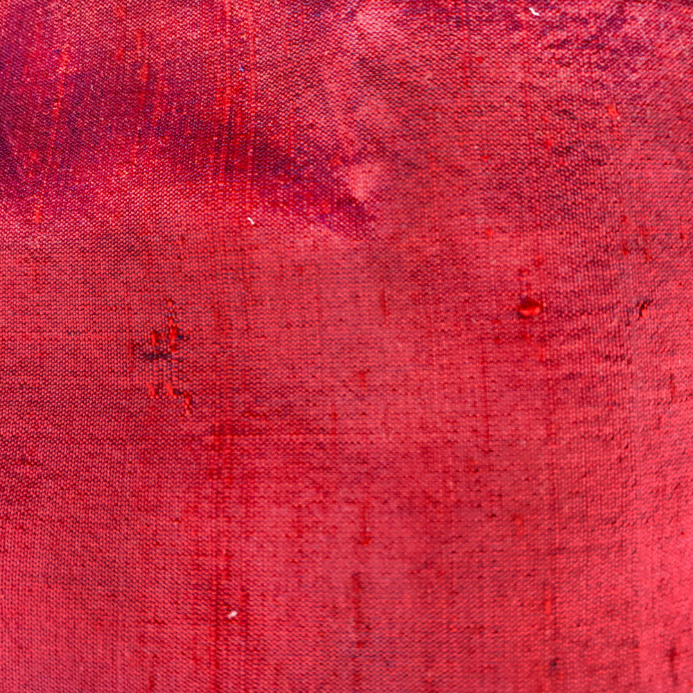 red silk douppioni Fabric Swatch