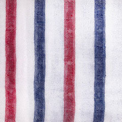 red white blue double face stripe Fabric Swatch
