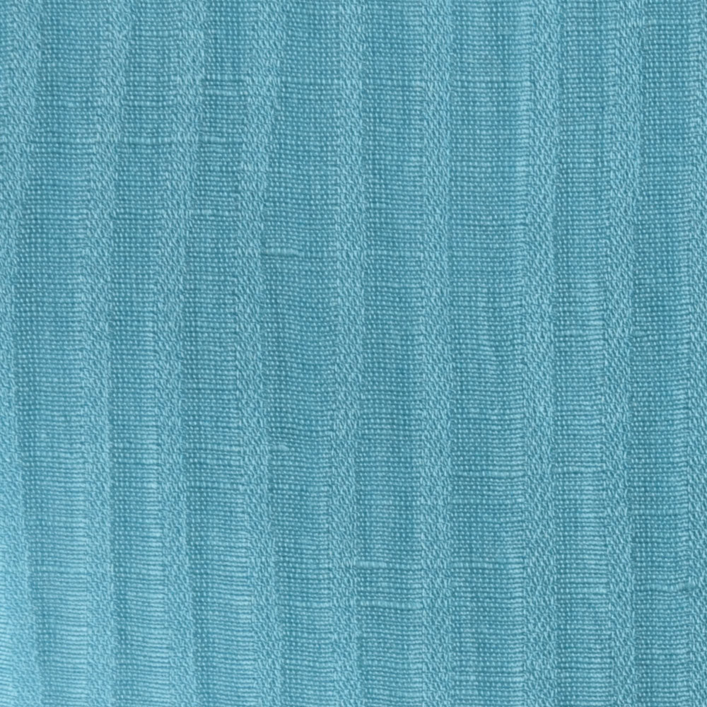 Turquoise Linen silk Fabric Swatch