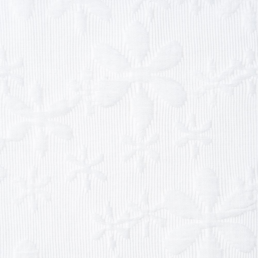white cotton floral quilted Fabric Swatch