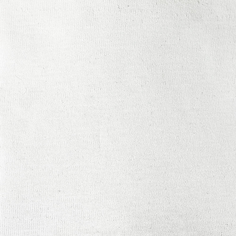 white cotton/lycra knit Fabric Swatch