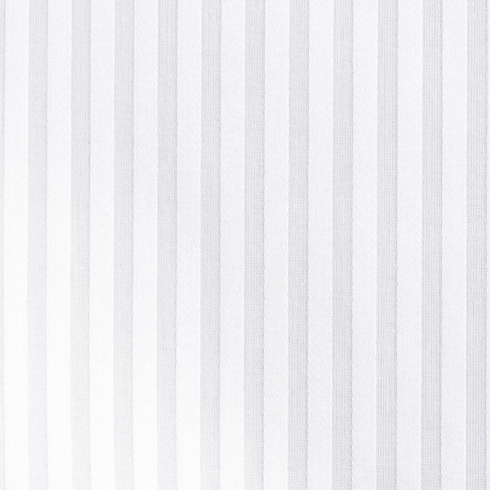 white cotton satin stripe Fabric Swatch