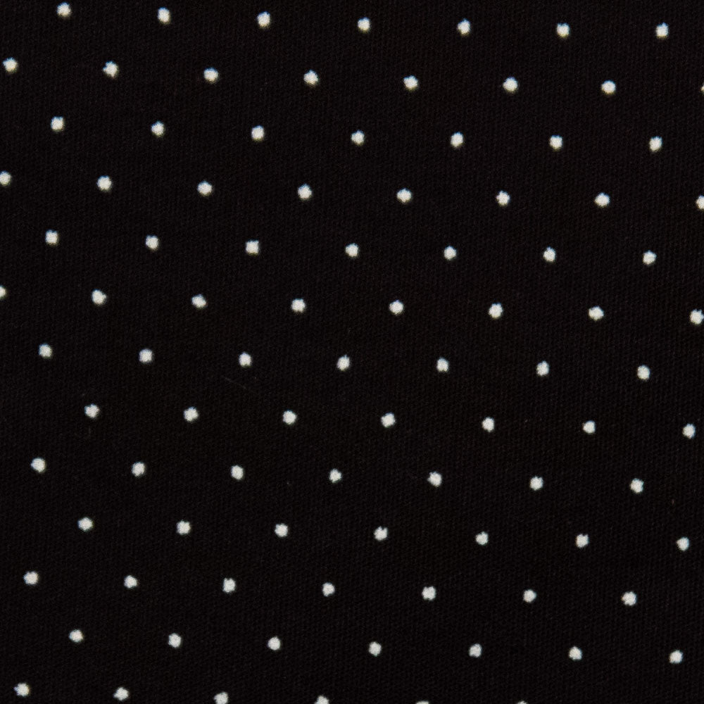white dot on black Fabric Swatch