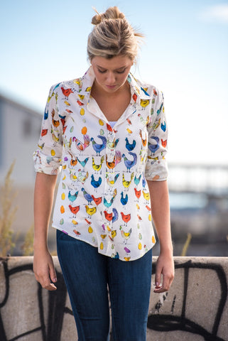 Ellen shirt in Chick Cotton Print
