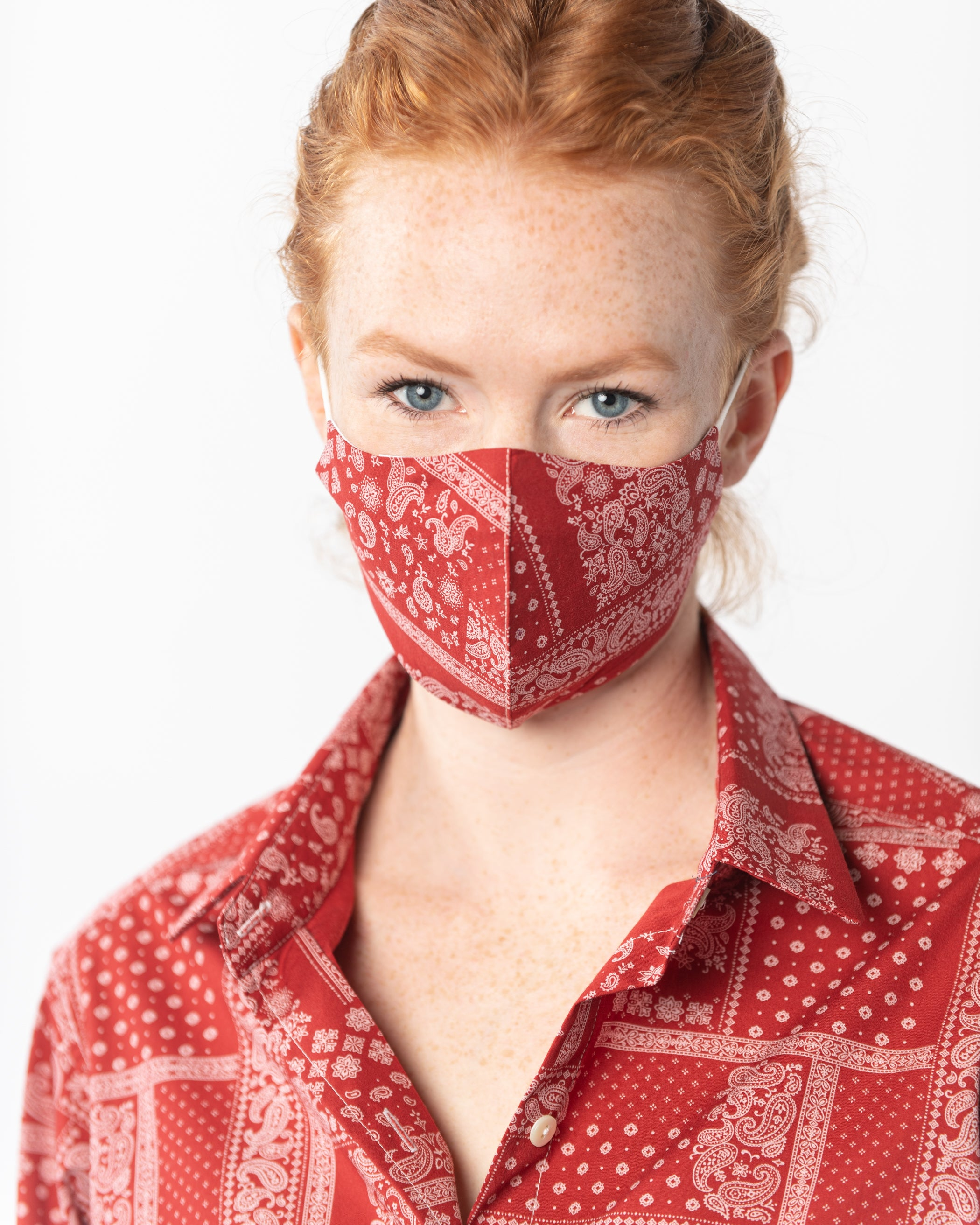Cloth Face Covering w/ ELASTIC EAR LOOPS