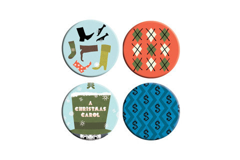 A Christmas Carol Button Pack