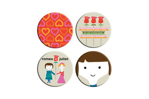 Romeo & Juliet Button Pack