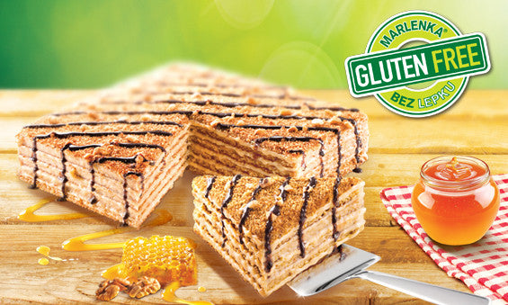 New product launch - Gluten-free honey cake MARLENKA® with nuts