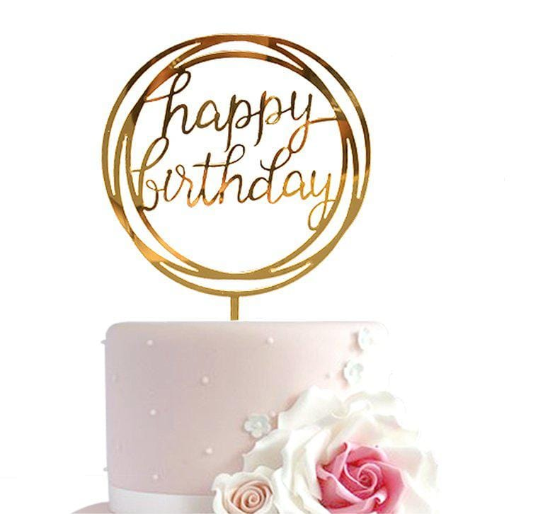 Happy Birthday Luxury Cake Topper - MARLENKA Enterprises