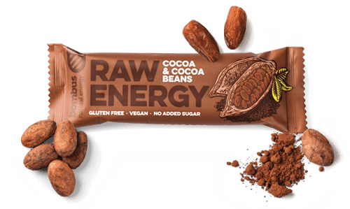 Raw Energy Cocoa & Cocoa Beans Bar - MARLENKA UK