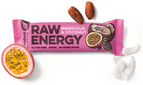 Raw Energy Maracuja & Coconut Bar - MARLENKA UK