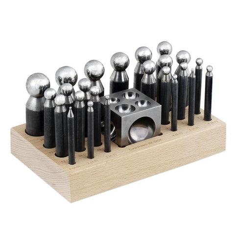 24pc Dapping Block & Punch Set