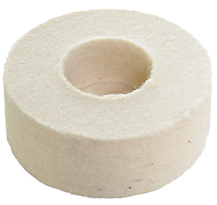 "Foredom 1-7/8"" Square Edge Felt Cup Wheel, 3/8"" Arbor Hole"