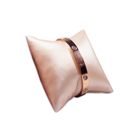 Champagne Pink Leatherette Pillow Bracelet & Bangle Display - 11-3-S50 - 40 Pieces