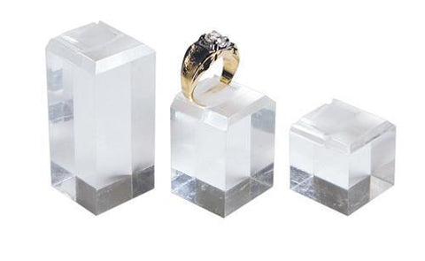 Acrylic Ring Stand Display Set - 1301 - 6 Pieces