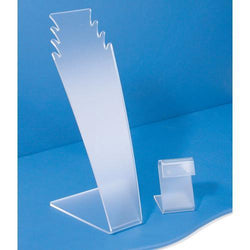 Frosted Acrylic Necklace Display Stand - 1603 - 32 Pieces