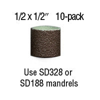 "Foredom 1/2"" x 1/2"" Aluminum Oxide BANDS 10-Pks 60, 80, 120, 220 grit"