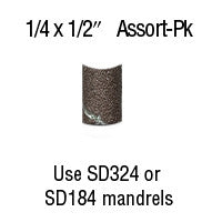 "Foredom 1/4"" x 1/2"" Aluminum Oxide BANDS 12-Pc Assortment Pack"