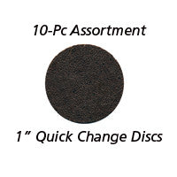 "Foredom 1"" Quick Change Sanding Discs, 10-Pc Assortment"