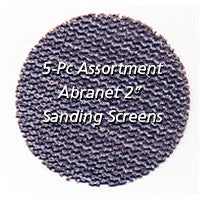 "Foredom 2"" Abranet Sanding Screens, 5-Pc Assortment"