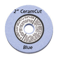 "Foredom 2"" CeramCut Blue Wheel, 3/8"" Arbor Hole"