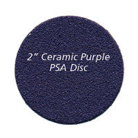 "Foredom 2"" Ceramic Purple PSA DISC 60, 80, 120, 220 grit"