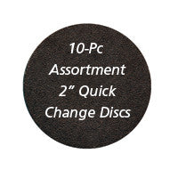 "Foredom 2"" Quick Change Sanding Discs, 10-Pc Assortment"