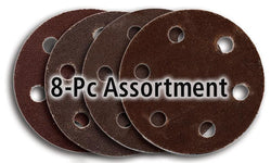 "Foredom 2"" Screw-Lok Aluminum Oxide Sandpaper Discs with Holes, 8-Pc Assortment, Fine"