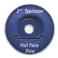 "Foredom 2"" Typhoon Disc, Flat Face, Fine"