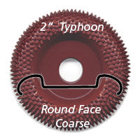 "Foredom 2"" Typhoon Disc, Round Face, Coarse"