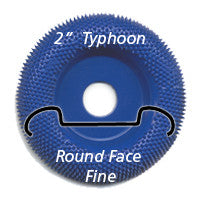 "Foredom 2"" Typhoon Disc, Round Face, Fine"