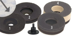 "Foredom 2"" Velcro Sanding Heads, Extra Firm to Soft"