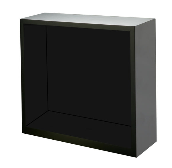 Diplomat Boxy Black Wood Enclosed Housing for Brick Winders with Power Extend Station Built In