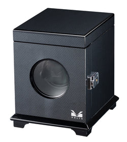 Volta Single Square Watch Winder - Carbon Fiber