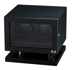 Volta Double Watch Winder - Carbon Fiber