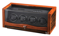 Volta 4 Watch Winder - Ebony/Rosewood