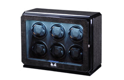 Volta 6 Watch Winder - Black Oak